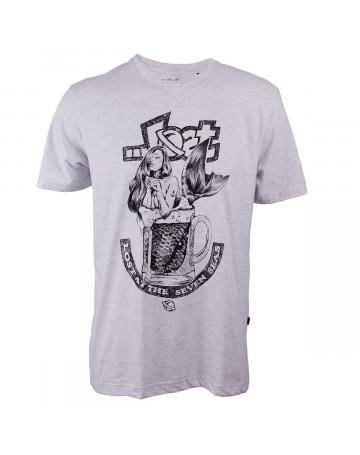 Camiseta Lost Mermaid Beer Cinza Mescla  b59d23c846299
