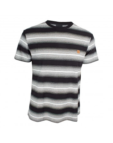 Camiseta Lost Striped Gradient - Preto/Branco