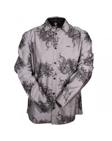 Camisa MCD Skull Flower - Cinza  357719494f3