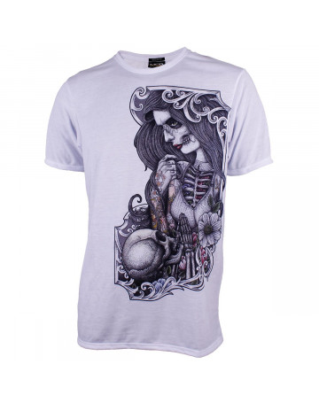 Camiseta MCD Transfer Body Tattoo School Branca  ae53edc2700