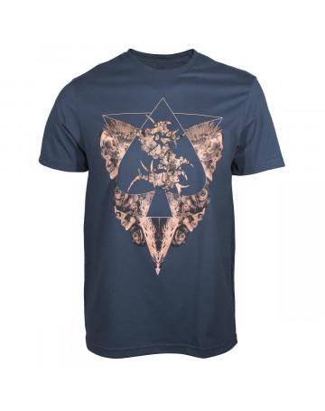 Camiseta MCD Sepultura Roots - Azul  5c69ba73bc3