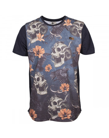 Camiseta MCD Scream Skull - Azul/Floral
