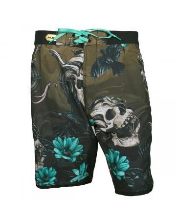 Bermuda MCD Walk Scream Skull - Verde Preto  764f537b957