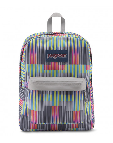 Mochila Jansport Superbreak - Cinza/Colors