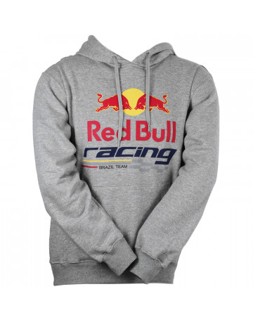 Moletom Red Bull Racing Logo - Cinza  48c8b0f7238