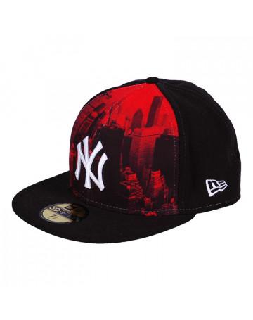 Boné New Era NY 59 fifty Black Fechado