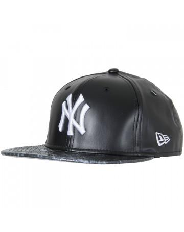 Boné New Era NY Classic Yankees Vize Couro - Preto  be746278f12