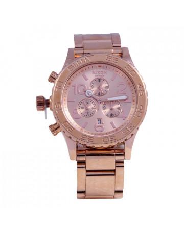 Relógio Nixon 42-20 Chrono Rose/GO