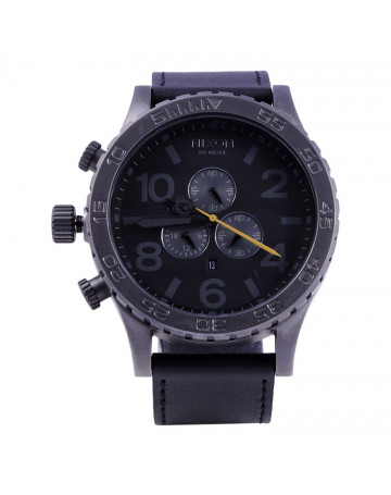 Relógio Nixon 51-30 Chrono Leather Black