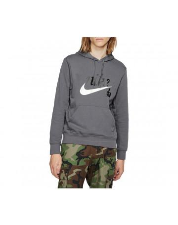 Moletom Nike SB Canguru Hoodie Icon Skate - Chumbo