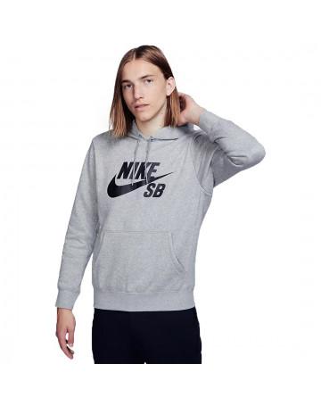 Moletom Nike SB Canguru Icon Cinza Mescla