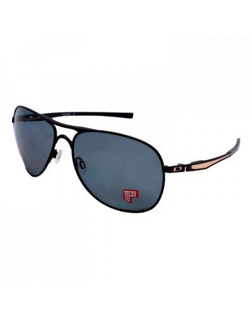 Óculos de Sol Oakley Plaintiff Matte Blk/Gold w/ Grey Polar
