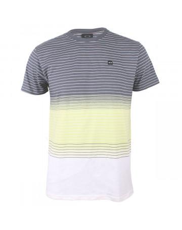 7921fdc266680 Camiseta Oakley Fade Cinza Branco