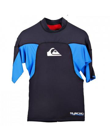 Camiseta Quiksilver Lycra Syncro Preta