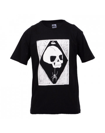 Camiseta Quiksilver Spider Skull Fosforescente