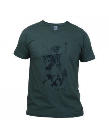 Camiseta Quiksilver Mexican Skeleton - Verde