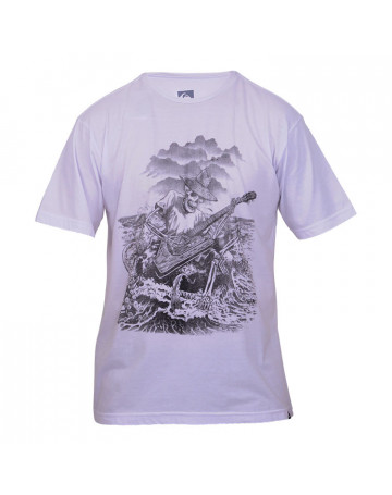 Camiseta Quiksilver Hick Skeleton - Branca