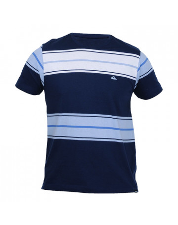 Camiseta Quiksilver Stripe One - Azul