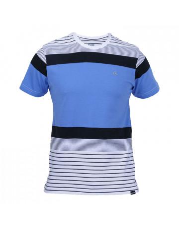 Camiseta Quiksilver Double Stripe - Azul