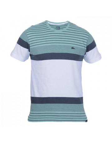 Camiseta Quiksilver Double Stripe - Verde