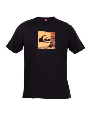 Camiseta Quiksilver Sketch - Preta/Laranja