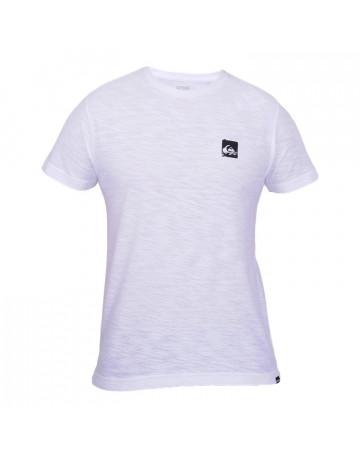 Camiseta Quiksilver Basic Logo - Branca