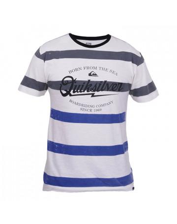 Camiseta Quiksilver Stripe Born - Bege