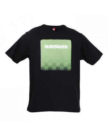 Camiseta Quiksilver Translucent Chess - Preta