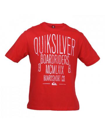 Camiseta Quiksilver Written - Vermelha