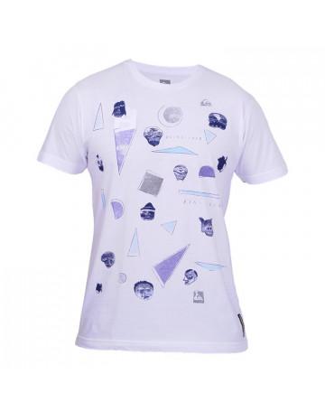 Camiseta Quiksilver Crazy Faces - Branca
