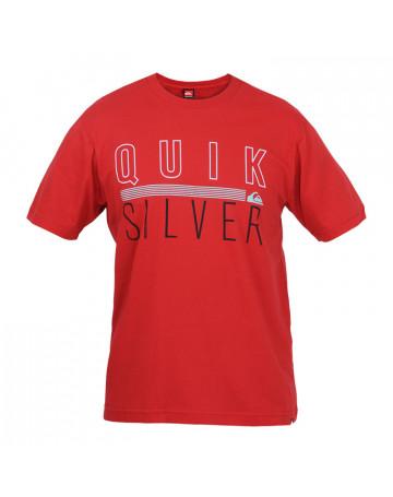 Camiseta Quiksilver Lines - Vemelha