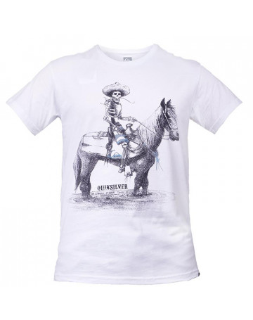 Camiseta Quiksilver Slim Born From The Sea - Branco  f228469eb41