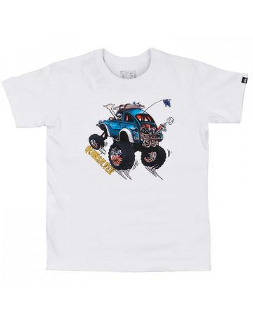 10dfdf5be3f Camiseta Quiksilver Infantil Cabo Bound - Branco