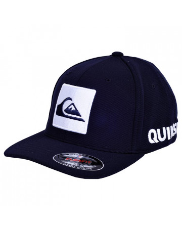 Boné Quiksilver Hard Hitter Letreiro I - Azul Escuro  904cd44e3bc