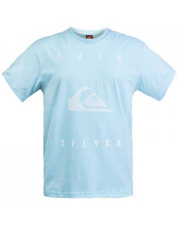 Camiseta Quiksilver Big Palm - Azul Claro