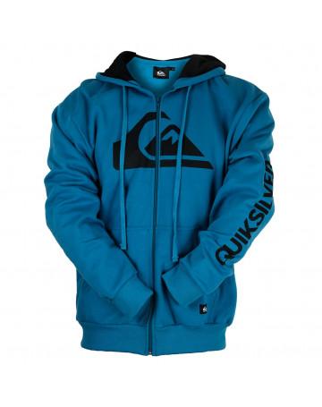 Moletom Quiksilver Aberto Letreiro - Azul   Loja de Surf 73d27079c8