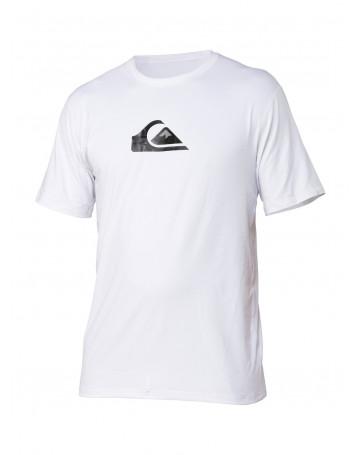 Camiseta Quiksilver Lycra Rashguard Solid Streak Branca