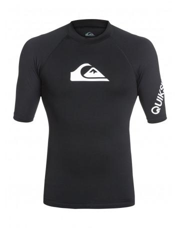 Camiseta Quiksilver Lycra Rashguard All Time Preta