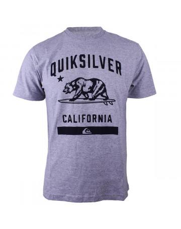 Camiseta Quiksilver C.A Bear Cinza Mescla  bfaea26e6f2