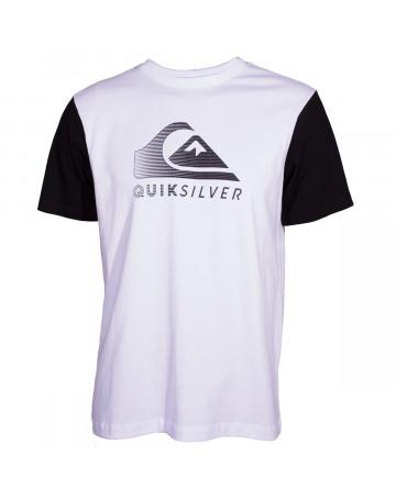 Camiseta Quiksilver Action Logo - Branco  edd42237cda