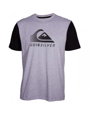 843d16ca84958 Camiseta Quiksilver Action Logo - Cinza Mescla