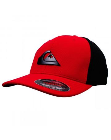 Boné Quiksilver Solid Cap Vermelho Preto  2a6a96d6659