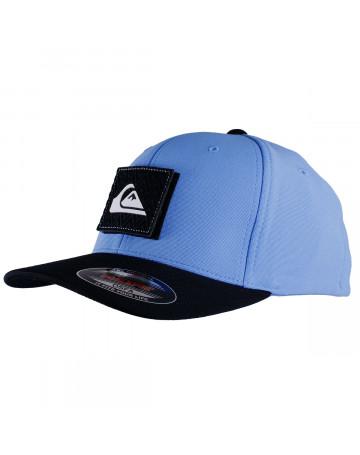 3eedf828cf09d Boné Quiksilver Juvenil Velcro Aplique Azul Preto