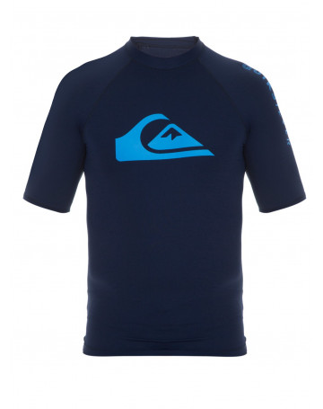 Camiseta Quiksilver Lycra Rashguard Hawaii - Marinho