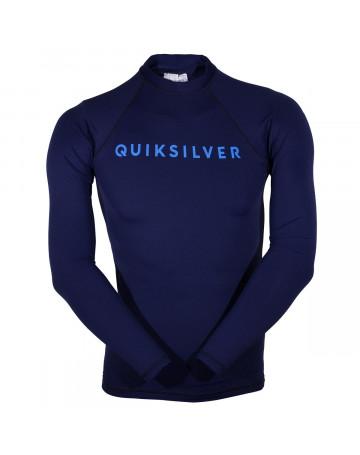 54bfa7ae2ab6b Camiseta Quiksilver Lycra Rashguard Manga Longa Hot - Azul