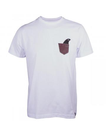 Camiseta Quiksilver Pocket - Branco   Loja de Surf 575d4c075e