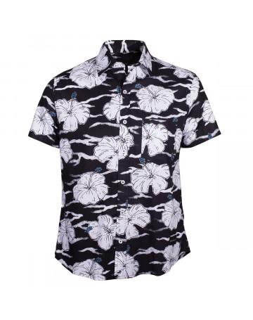 Camisa Quiksilver Denin - Preto Branco   Loja de Surf c96e03e6c7