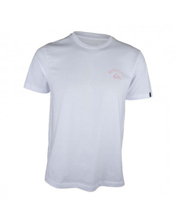 Camiseta Quiksilver Stacked Up - Branca