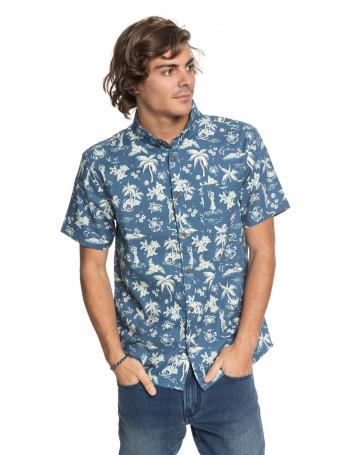 Camisa Quiksilver Black Hula - Azul