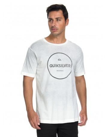 Camiseta Quiksilver Degra Signature - Cinza